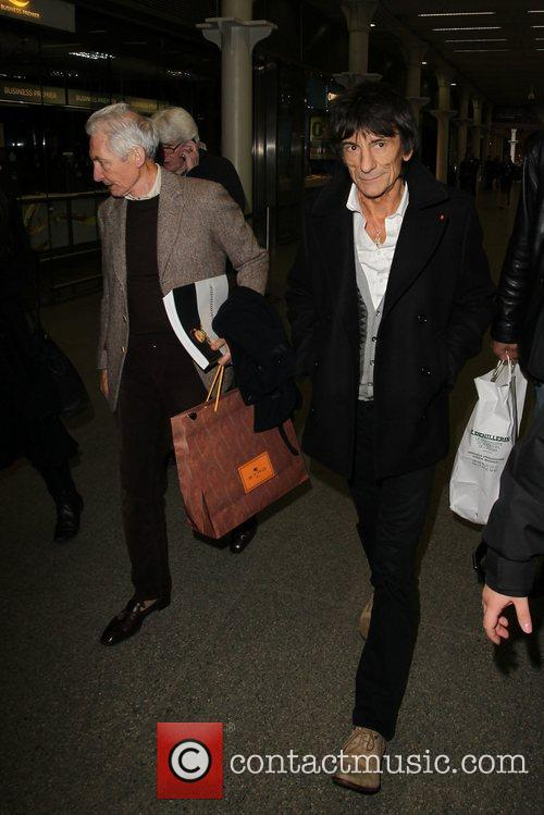 Charlie Watts and Ronnie Wood 7