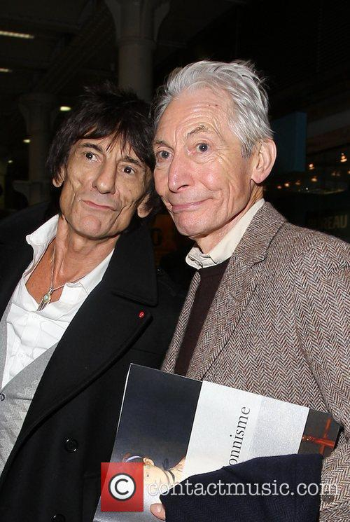 Charlie Watts and Ronnie Wood The Rolling Stones...