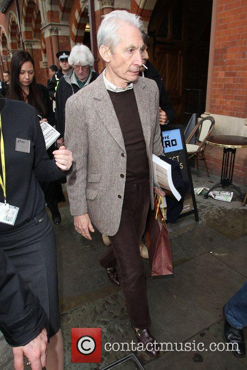 Charlie Watts The Rolling Stones arrive at Kings...
