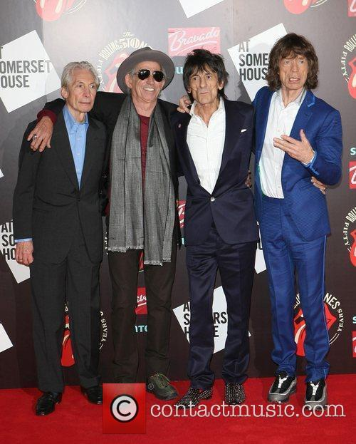 Charlie Watts, Keith Richards, Mick Jagger, Rolling Stones and Ronnie Wood 2