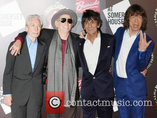 Charlie Watts, Keith Richards, Mick Jagger, Rolling Stones and Ronnie Wood 1