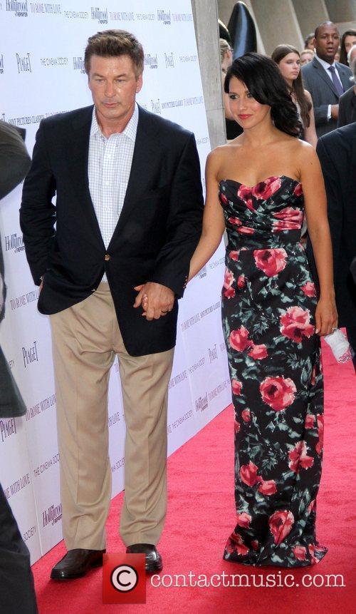 Alec Baldwin and Hilaria Thomas The Cinema Society...