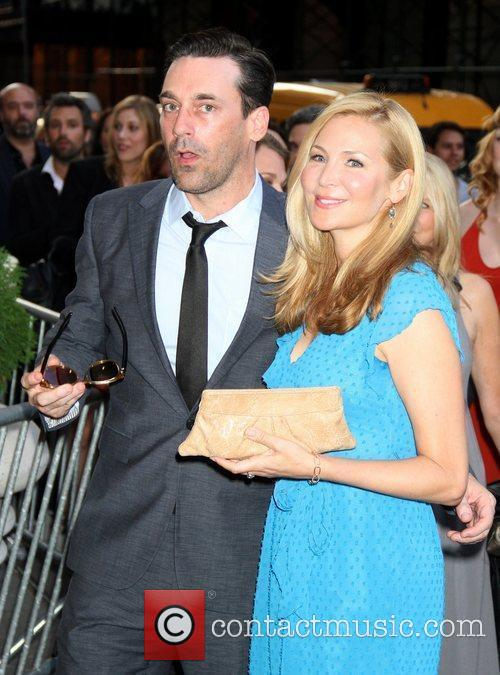 Jon Hamm and Jennifer Westfeldt The Cinema Society...