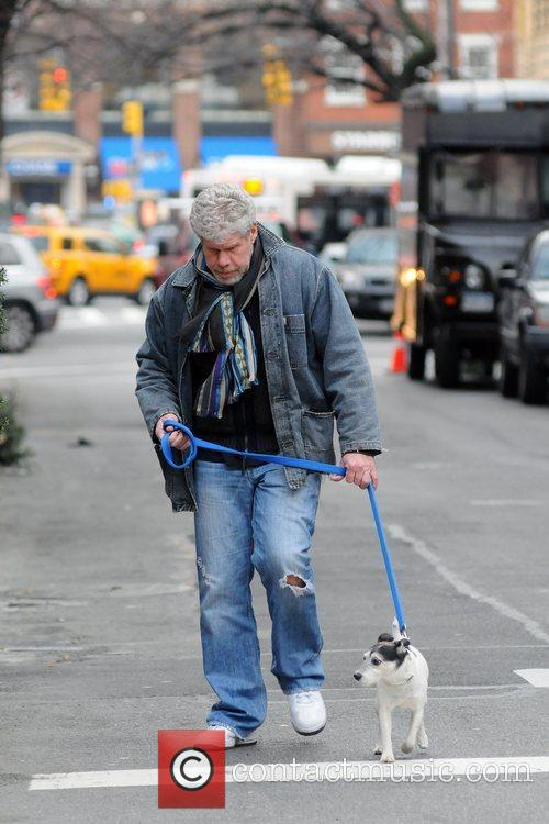 ron perlman walking his dog in manhattan 5775953