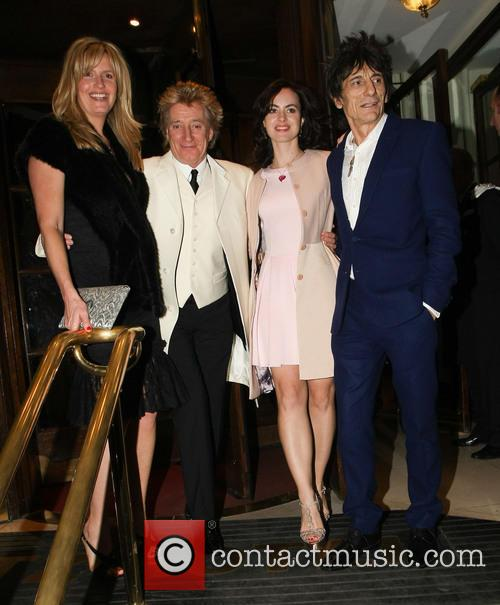 Penny Lancaster, Rod Stewart, Sally Humphrey and Ronnie Wood 4