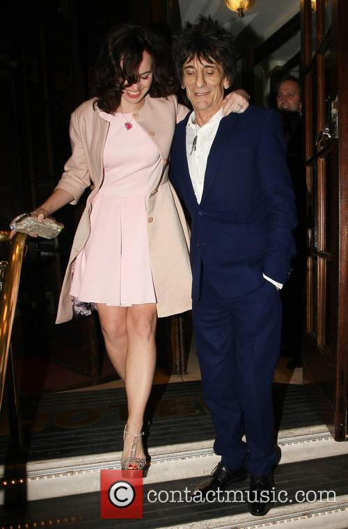 Ronnie Wood and Sally Humphreys 5