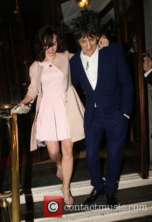 Ronnie Wood and Sally Humphreys 6