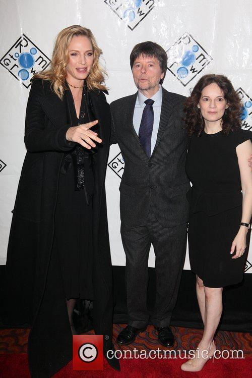 Uma Thurman, Ken Burns, Julie Burns The Room...