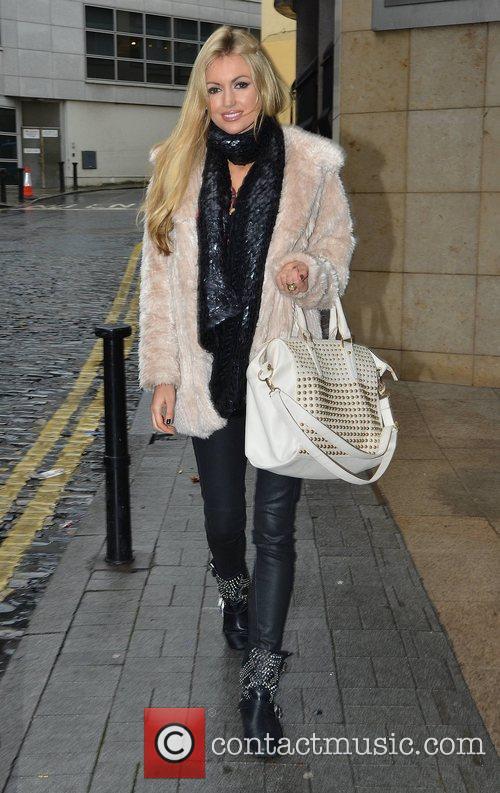 Rosanna Davison arriving at the Today FM studios...