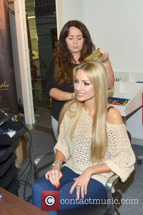 Former Miss World, Playboy, Rosanna Davison, Christmas, Ceira Lambert, Celebrity Salon, South William Street, Dublin and Ireland 5
