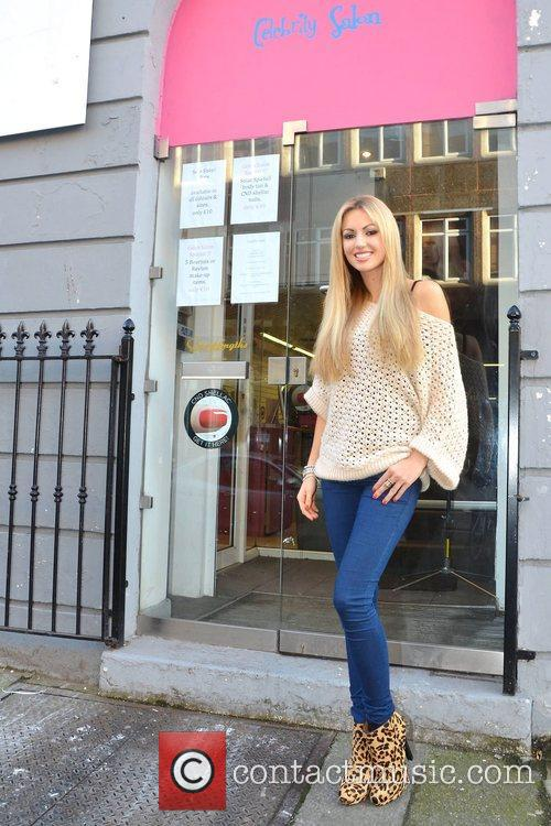 Former Miss World, Playboy, Rosanna Davison, Christmas, Ceira Lambert, Celebrity Salon, South William Street, Dublin and Ireland 2