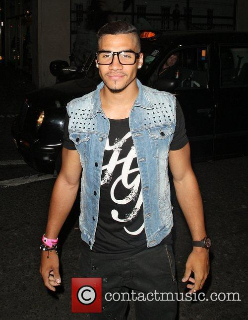 Louis Smith arriving at Rose nightclub