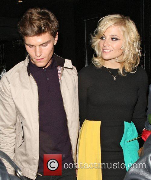 Pixie Lott and boyfriend Oliver Cheshire leaving Rose...