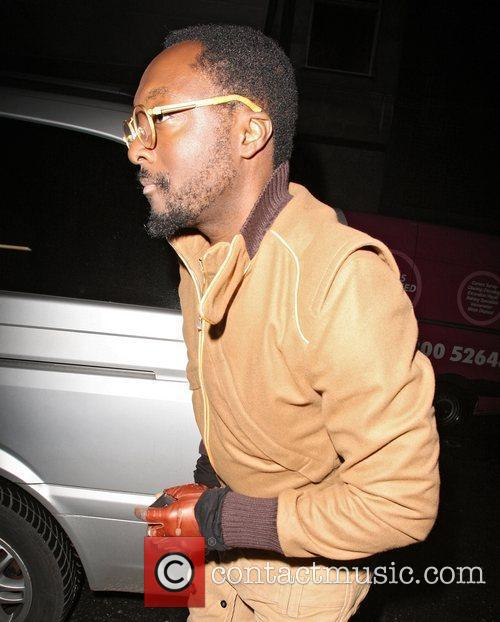 Will.i.am arriving at the Rose nightclub to play...