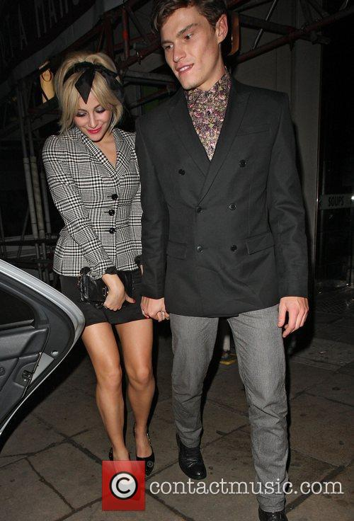 Pixie Lott and her boyfriend Oliver Cheshire leave...