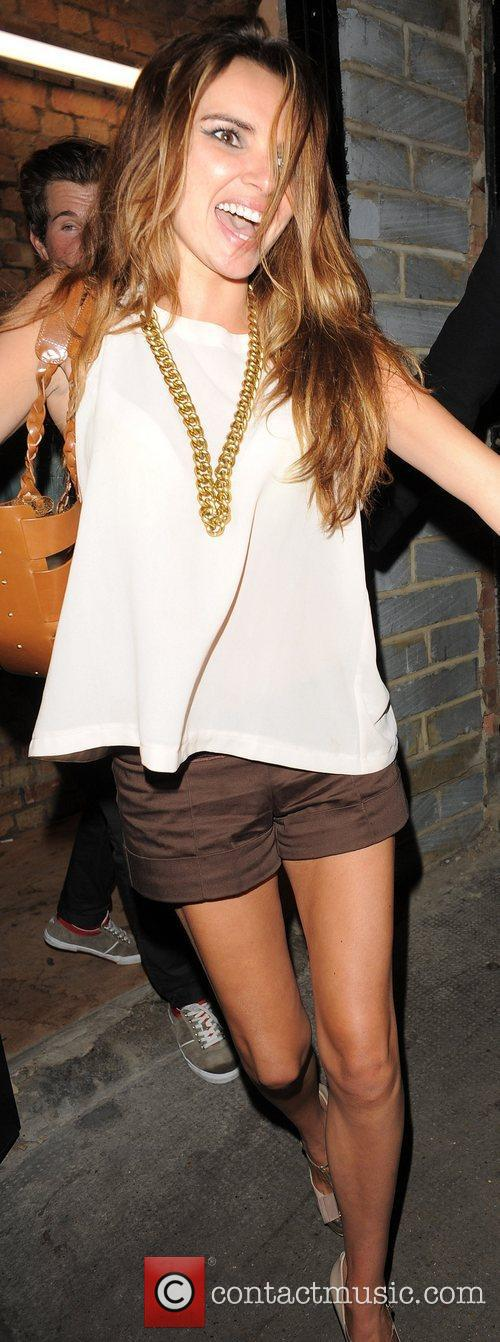 Nadine Coyle leaves the Rose Club at 4am...