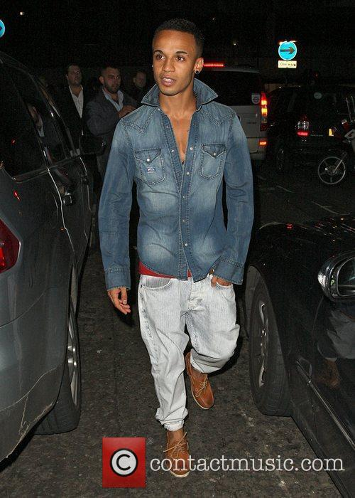 Aston Merrygold  JLS are seen leaving the...