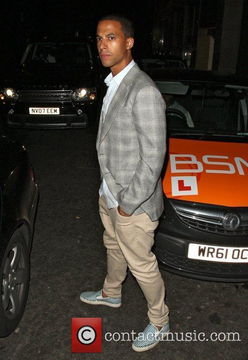 Marvin Humes JLS are seen leaving the Rose...