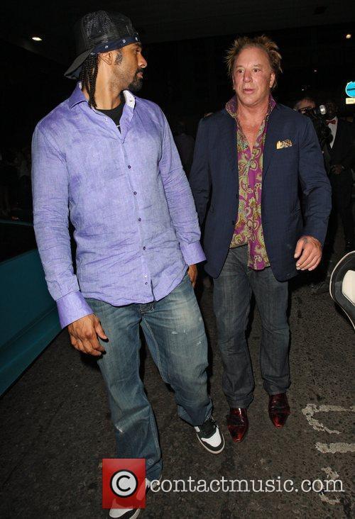 David Haye and Mickey Rourke 5