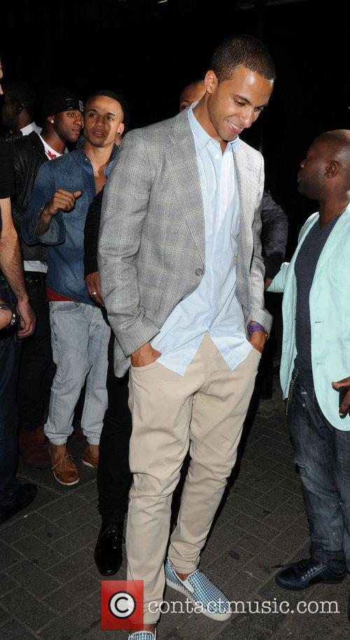 Marvin Humes  JLS leave the Rose Club...