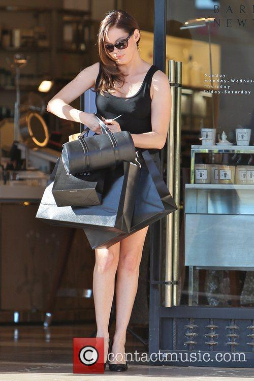 Rose McGowan  seen leaving Barneys New York...