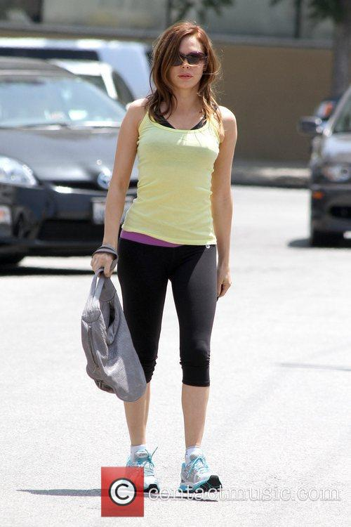 Rose McGowan leaving a gym in Studio City...