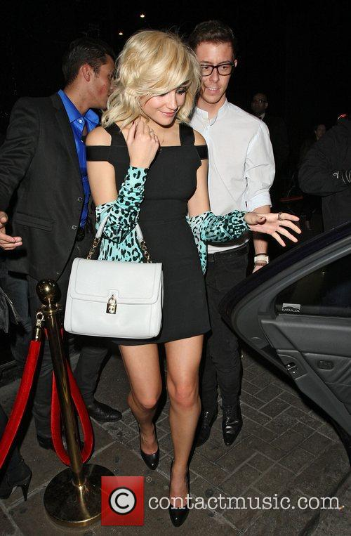 Pixie Lott leaving the Rose nightclub