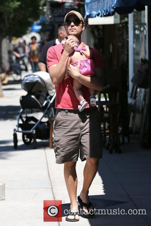 Eric Winter, and his daughter, Sebella Rose Winter...