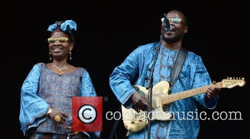 Amadou & Mariam perform at Roskilde Festival, Denmark