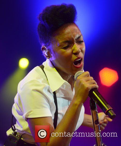 Janelle Monae performs at Roskilde Festival, Denmark