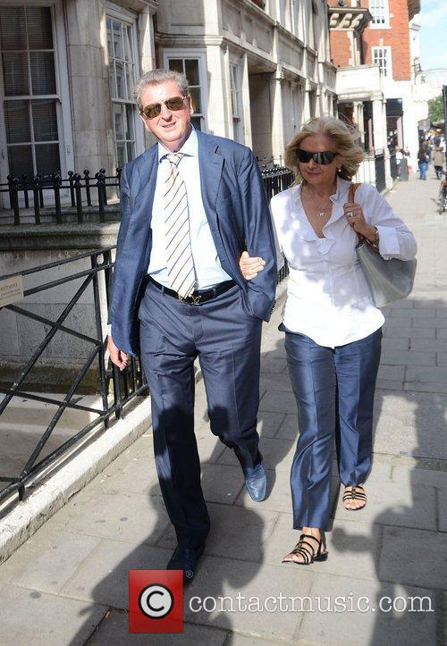 Roy Hodgson out and about in Mayfair London,...