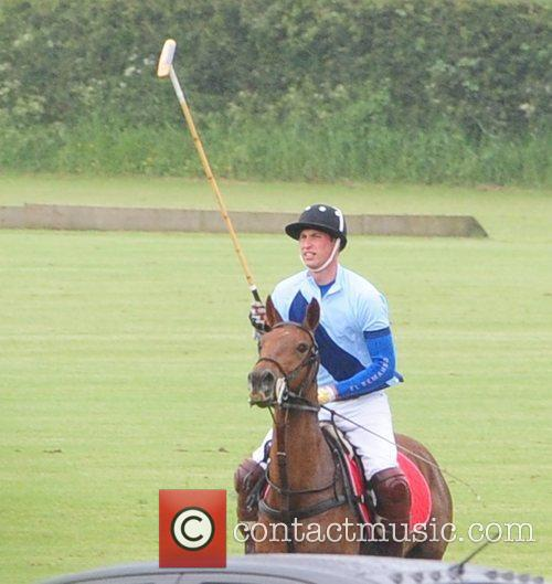 Prince William, Duke of Cambridge iis seen playing...