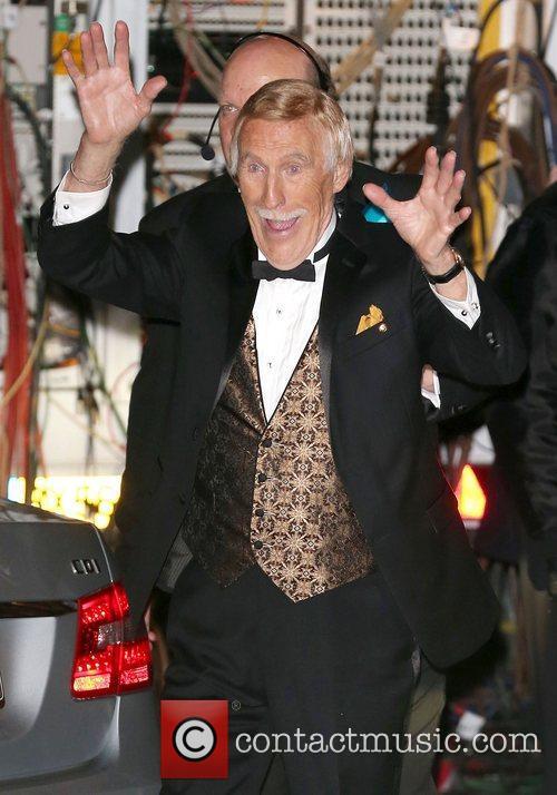 Bruce Forsyth,  leaving the Royal Albert Hall...