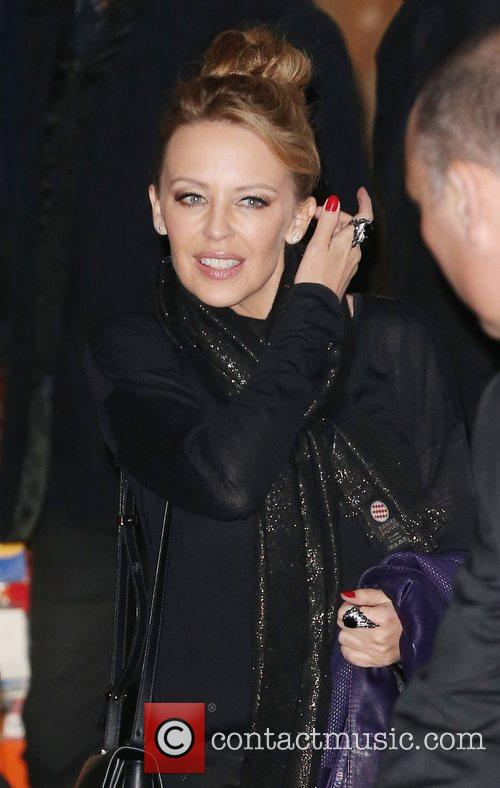 Kylie Minogue,  leaving the Royal Albert Hall...