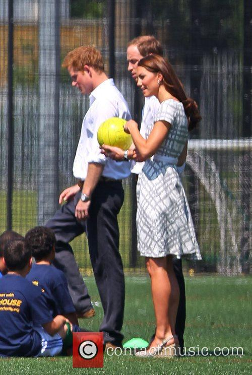 Kate Middleton, Prince Harry and Prince William 2