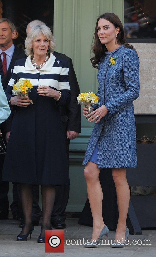 Camilla, Duchess of Cornwall, and Catherine, Duchess of...