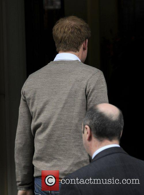 prince harry arriving at king edwards vii 3934106