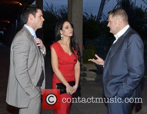 Stephen O'Connor, Maire Hughes, Brendan O'Connor  outside...