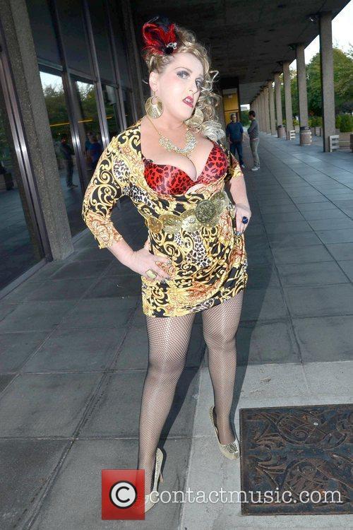 Katherine Lynch Celebrities arrive at  Katherine Lynch's...