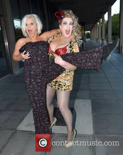 Katherine Lynch, Kerry Katona Celebrities arrive at...