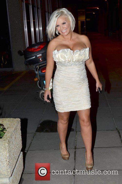 Kerry Katona Celebrities arrive at  Katherine Lynch's...