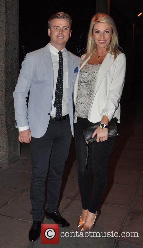 Presenter Brian Ormond and his pregnant wife Pippa...
