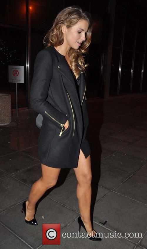 Vogue Williams; sporting new highlights in her hair...