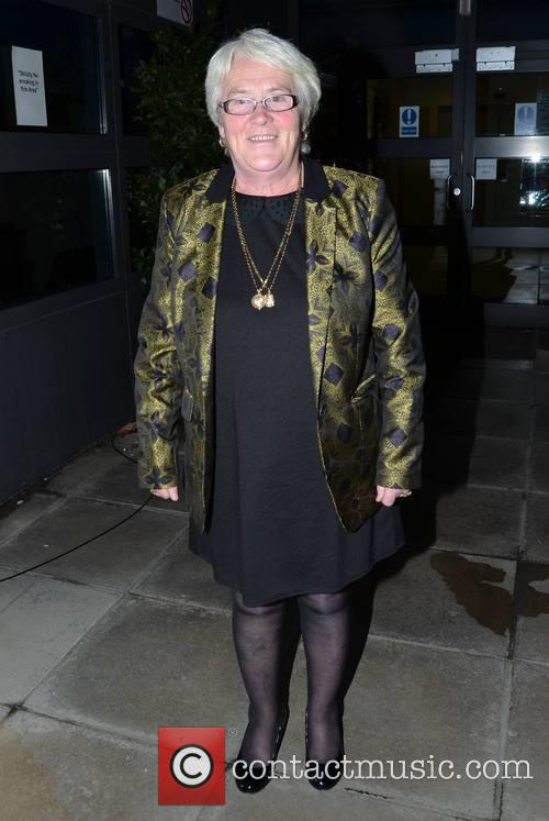 Ann Grimes Celebrites arrive at a recording of...