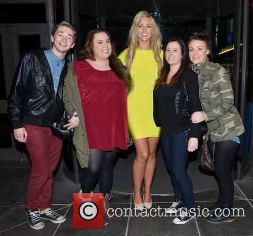 Josie Gibson Celebrites arrive at a recording of...