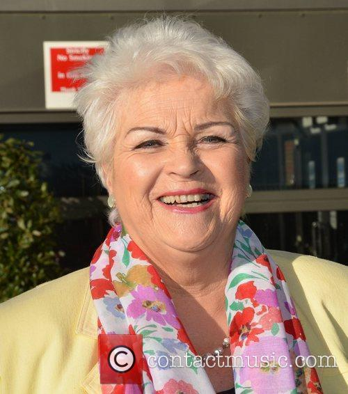 Pam St Clement Celebrities Outside the RTE Studios...