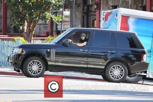 Russell Brand seen driving in Los Angeles. Los...