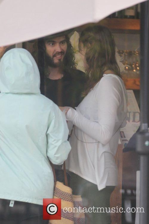 Russell Brand visits Cafe Gratitude in Los Angeles...