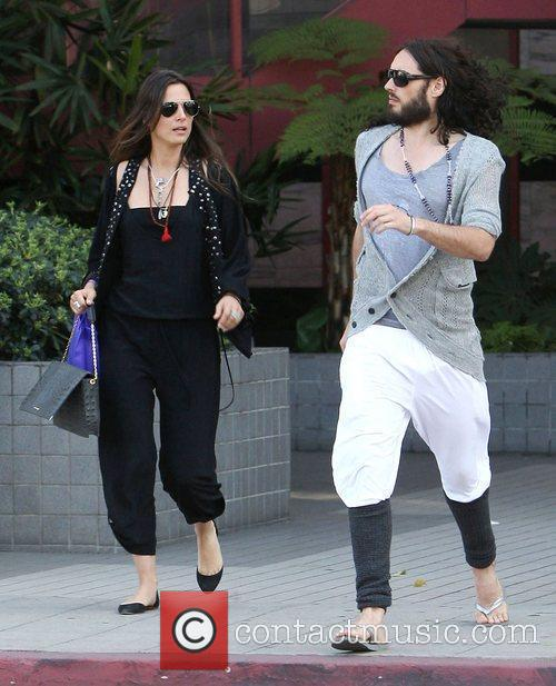Russell Brand with new girlfriend, mexican artist Oriela...