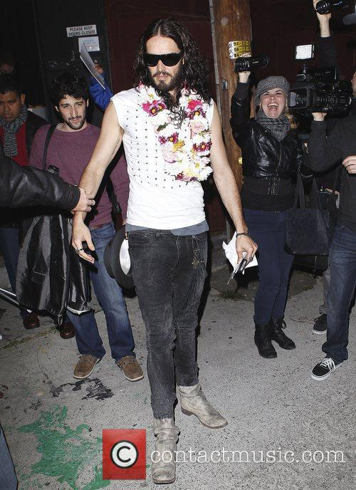 Russell Brand at the Roger Room Los Angeles,...